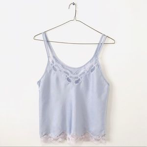 Periwinkle Lace Cami
